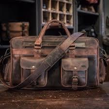 roosevelt buffalo leather pilot bag