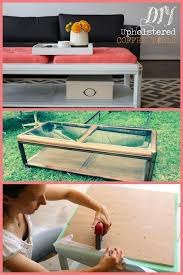glass coffee table makeover