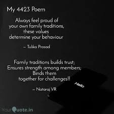family traditions builds quotes writings by nataraj vr
