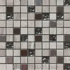 mosaic tile 300x300 brown travertine