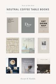 curated coffee table books