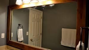 cherry wood bathroom mirror