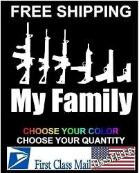 My Gun Family Bumper Sticker Window Funny Laptop Car Truck Decal Vinyl 3c Signs