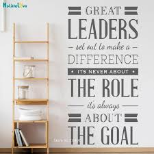 Waliicorners Great Leaders Set Out To Make A Difference Word Wall Stciker Decal Leadership Office Murals Vinyl Word Decor Yt3297 Waliicorner S Store