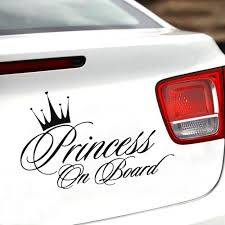 Princess On Board Funny Car Decal Reflective Laser Vinyl Car Sticker 3d Car Styling Black Silver Crazy Unique Gifts Cute Novelty Gifts From Topprettymall 1 31 Dhgate Com