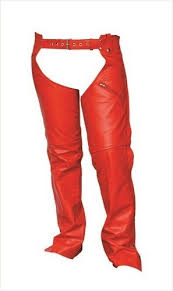 red leather chaps motorcycle gear