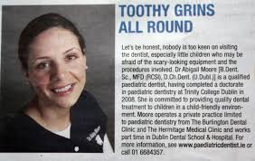 Dr Abigail Moore featured in the Irish Independant 15th June 2010 ...
