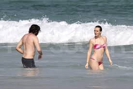 Leighton Meester wore a bikini with shirtless Aaron Himelstein ...
