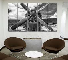 metal airplane propeller wall decor