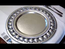 antique silver charger plates