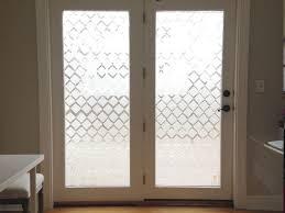 diy glass door privacy with