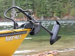 trolling motor mount for a kayak
