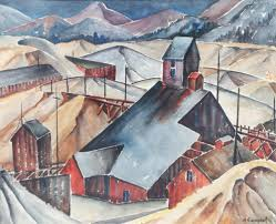 Myrtle Campbell Colorado Mining Town Watercolor (With images ...