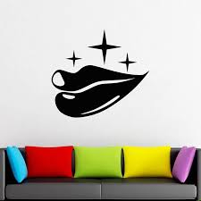 Lips Wall Decal Kiss Smile Lipstick Beauty Salon Woman Bedroom Home Decor Window Vinyl Sticker Sexy Lip Removable Mural Art S947 Wall Stickers Aliexpress