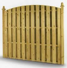 Hit And Miss Fencing Panel Double Palisade Fence