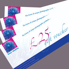 blue dahlia 25 gift vouchers