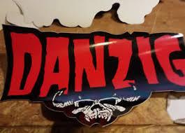 Danzig Bumper Sticker Collectible Rare Vintage 1990 S Metal Window Decal Misfits Ebay