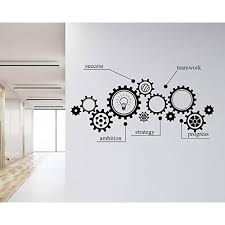 Redin Store Gear Mechanism Engineering Wall Vinyl Decal Sucess Sticker Teamwork Office Student Stickers For Nursery Study Classroom Custom Color Educational Toys Planet