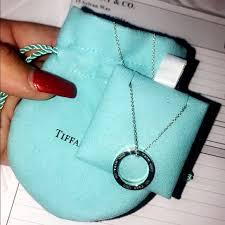 brand new tiffany 1837 circle pendant
