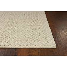 kas rugs organic herringbone ivory 8 ft
