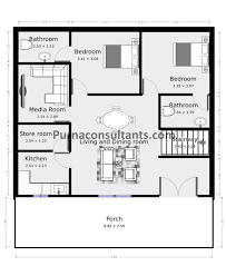 800 sq ft house plan with estimate