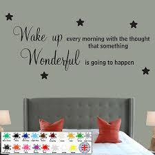 Wake Up Wonderful Bedroom Quote Wall Sticker Family Wallart Decals Diy Stars Ebay