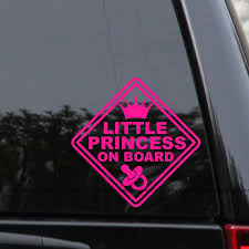 Little Princess On Board Decal Sticker Baby Sign Window Laptop Bumper Truck Car Princess Decal Baby Decals Monogram Stickers