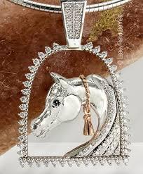 tassel arabian horse pendant