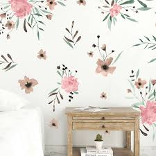 Pink Watercolor Flowers Wall Decals Project Nursery