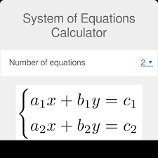 system of equations calculator