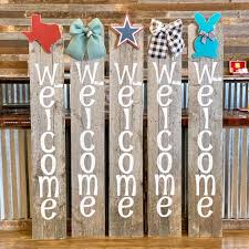 Welcome Fence Boards Lone Star Mercantile