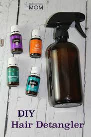 homemade diy hair detangler with
