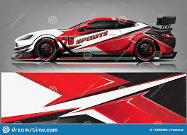 Car Decal Wrap Design Vector Graphic Abstract Stripe Racing Background Kit Designs For Vehicle Race Car Rally Adventure And Li Stock Illustration Illustration Of Abstract Signs 143005604