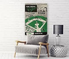 San Diego Padres 1957 Print Vintage Baseball Poster Retro Etsy