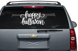 Happy Halloween Vinyl Car Decal Custom Stickers Print Picture Etsy