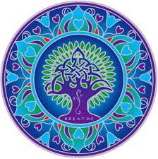 Amazon Com Illumination Mandalas Earth Mandala Environmental Stained Glass Window Art Sticker Decal 5 5 Circular Automotive