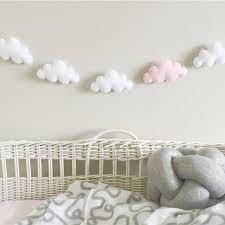 3d Felt Cloud Garland Party Banner Kids Room Nursery Hanging Wall Decor Prop Ebay