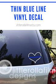 Thin Blue Line Heart Vinyl Decal Police Support Decal Etsy Thin Blue Line Decal Small Business Gifts Handmade Usa