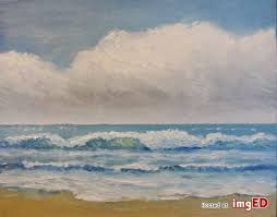 Byron holmes seascape oil painting, california plein air impressionist -  Image on imgED