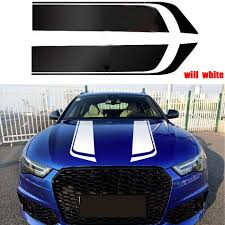 1 Pair Racing Car Stickers And Decals Sports Car Hood Decal Stripe Auto Hood Vinyl Car Styling Accessories Car Stickers Aliexpress