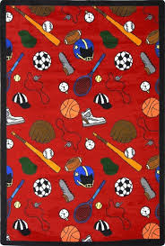 Games People Play Gaming Sports Area Rugs Multi Sport Rug Contemporary Kids Rugs By Uber Bazaar