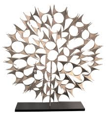 silver black abstract fireplace screen