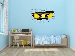 Amazon Com Ottosdecal Ninjago Eyes Broken Wall 3d Effect Removable Wall Decal Vinyl For Home Decoration 36 X 20 Home Kitchen