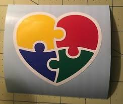 Autism Puzzle Heart Decal For Your Yeti Rambler Tumbler Ebay