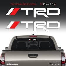 Trd Sticker Decal Windshield Rear Mirror Window Toyota Tacoma Etsy