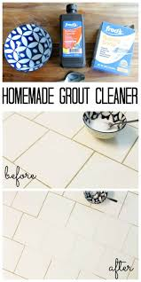 homemade grout cleaner from household
