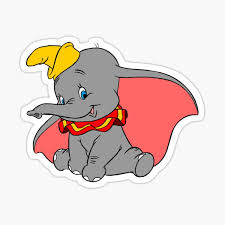 Dumbo Sticker By Baileylevin Redbubble