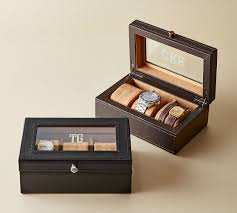grant leather watch box pottery barn