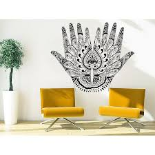 Shop Art Home Decor Design Mural Henna Mehndi Hands Arabic Bahraini Henna Indian Sticker Decal Size 33x39 Color Black Overstock 14136288