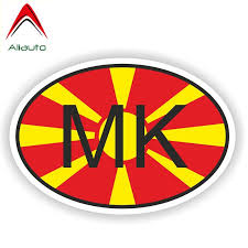 Macedonia Country Vinyl Flag Decal Sticker